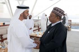 محمد بن زايد يستقبل الوزراء المشاركين في أديبك