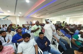 شرطة دبي تُقدم محاضرة لسائقي الشاحنات بجبل علي حول أضرار المخدرات