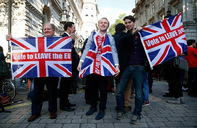احتفالات لأنصار خروج بريطانيا