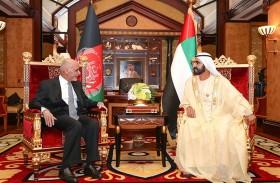 محمد بن راشد يستقبل الرئيس الأفغاني ويؤكد عمق العلاقات بين البلدين