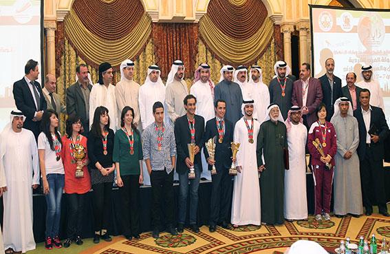 الحفل الختامي لبطولة العرب الشطرنج للرجال في أبوظبي
