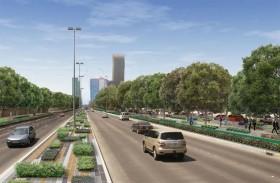 بلدية مدينة أبوظبي تطلق المشروع النموذجي التجميلي في شارع البطين