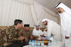 وزير الشؤون البحرية الإندونيسي يعزي ذوي الشهيدين زايد العامري وصالح بن عمرو