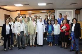 جمعة الماجد يستقبل رئيس جمعية أصدقاء متحف قصر المنيل بالقاهرة