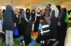 شرطة أبوظبي تنفذ برامج تثقيفية ضمن معرض التوعية المجتمعية في العين