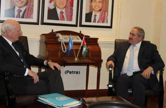 دي ميستورا يجري في الأردن محادثات حول سوريا
