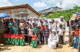الهلال الأحمر توزع مساعدات على 7 آلاف لاجئ من الروهينجا