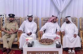 ولي عهد عجمان يقدم واجب العزاء في وفاة الضعيف بن غدير الكتبي
