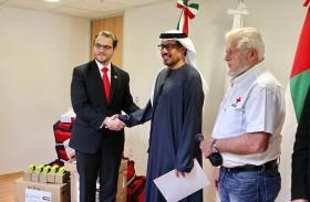 سفير الدولة يترأس مراسم استلام المساعدات الإماراتية للمكسيك