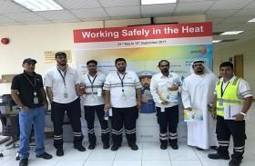 موانئ أبوظبي تبدأ حملة سلامة العمال في الطقس الحار للعام الخامس على التوالي