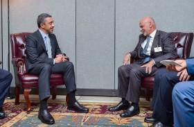 رئيس أفغانستان يستقبل عبدالله بن زايد في نيويورك