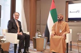 محمد بن راشد يستقبل رئيس مجموعة البنك الدولي