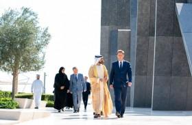 خليفة بن طحنون يستقبل وزير خارجية سلوفينيا في واحة الكرامة