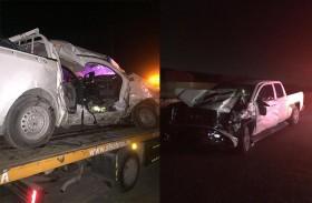 مصرع آسيويان وإصابة 4 بينهم مواطنان في حادث تصادم