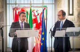 عبدالله بن زايد يترأس وفد الدولة في الحوار الاستراتيجي الثاني بين الإمارات وإيطاليا