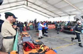 اللواء المري يشهد فعاليات اليوم الثاني من تحدي الإمارات لفرق الإنقاذ في ميدان الروية2020