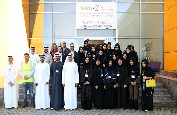30 مشاركا في برنامج الشارقة للقادة يطلعون على مشاريع شركة بيئة
