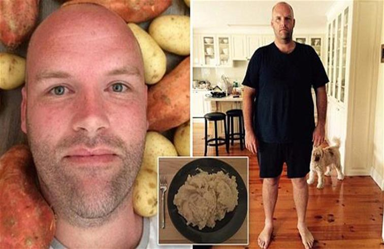 يخسر 30 كيلو بحمية البطاطا
