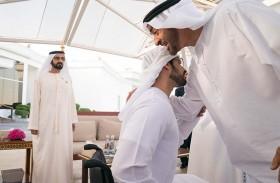 محمد بن راشد ومحمد بن زايد يهنئان زايد بن حمدان بسلامة الوصول