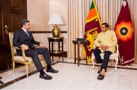 رئيس سريلانكا يستقبل عبدالله بن زايد