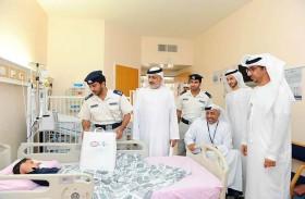 شرطة أبوظبي بالعين تحتفي بـ «يوم الطفل الإماراتي»