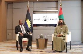 محمد بن راشد يبحث مع رئيس وزراء أنتيغوا وبربودا العلاقات الثنائية وسبل إيجاد آليات جديدة لتعزيز جسور التعاون