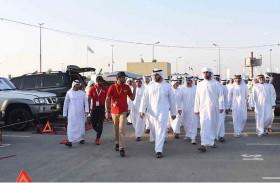 راشد بن سعود المعلا يزور مهرجان أم القيوين للسيارات والدراجات النارية