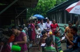 مسلمو بورما يصومون رمضان في البرد والعراء