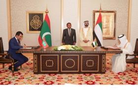 محمد بن راشد و رئيس المالديف يبحثان في دبي تطوير العلاقات الثنائية