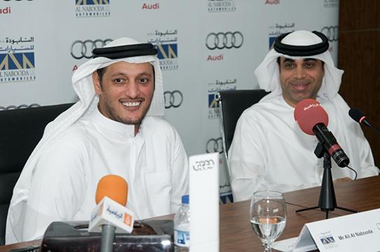 الترحيب بنجم كرة القدم الإماراتي مهدي علي سفيراً لأودي دبي
