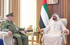 محمد بن راشد يستقبل نائب وزير الدفاع الجزائري