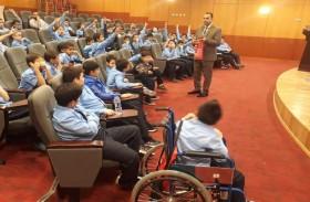 طلاب الشعلة الخاصة يزورون الدفاع المدني في عجمان