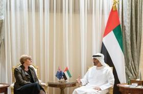 محمد بن زايد يبحث مع وزيرة الدفاع الأسترالية علاقات التعاوشن والمستجدات الإقليمية والدولية