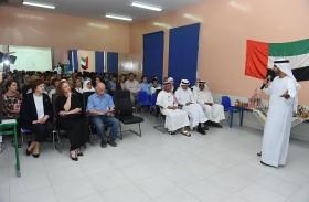 مكافحة المخدرات في شرطة دبي تلتقي أولياء أمور طلبة المدرسة  الروسية