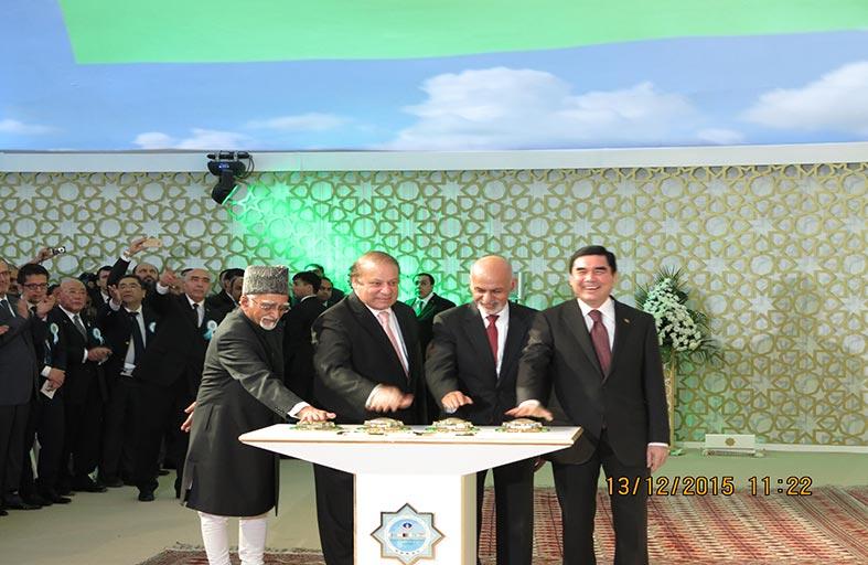 تركمانستان وأفغانستان وباكستان والهند تدشن خط أنبوب غاز (تابي)