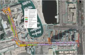 بلدية مدينة أبوظبي تطور منظومة البنية التحتية لشارع مارينا البطين