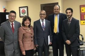 سفير الدولة يلتقي نائب وزير التجارة والصناعة البنمي