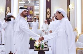 حاكم عجمان و ولي عهده يستقبلان رئيسة و أعضاء المجلس الوطني الاتحادي