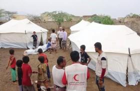 الإمارات تقدم مساعدات إغاثية للناجين من قصف المليشيات الحوثية على حي سكني في حيس