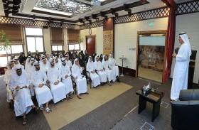 مدير عام محاكم دبي يقدم محاضرة حول «الولاء المؤسسي» للموظفين
