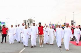 راشد بن سعود بن راشد المعلا يزور مهرجان أم القيوين للسيارات والدراجات النارية