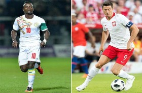 ليفاندوفسكي ومانيه يختزلان مواجهة بولندا السنغال
