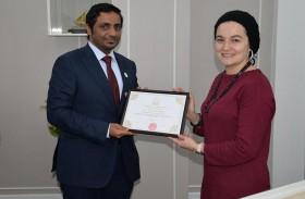 إنجازات الإمارات بمجال حقوق الإنسان في محاضرة بأستانا