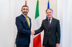 عبدالله بن زايد يلتقي وزير خارجية إيطاليا