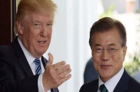 ترامب ومون يريدان العمل مع كوريا الشمالية