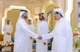 حاكم عجمان وولي عهده يستقبلان مدراء وموظفي جهاز الرقابة المالية والمهنئين بشهر رمضان