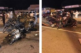 وفاة خليجي وإصابة ثلاثة في انحراف سيارة