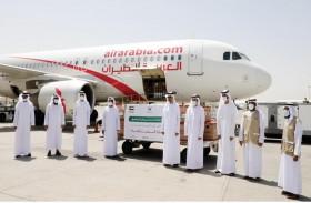 خيرية الشارقة تسير طائرة مساعدات لإغاثة 10 آلاف من متضرري فيضانات السودان