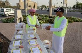 إدارة التثقيف الصحي بالشارقة توزع وجبات إفطار للصائمين ضمن حملة «هلال الصحة»