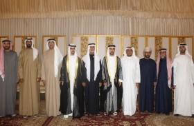 نهيان بن مبارك والشيوخ يحضرون أفراح اليحيائي و درويش بالشارقة